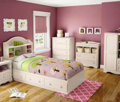 girls bedroom furniture with wooden floor style