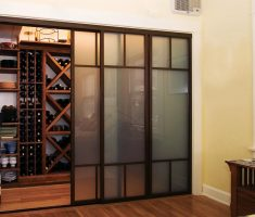 glass sliding closet doors for small space