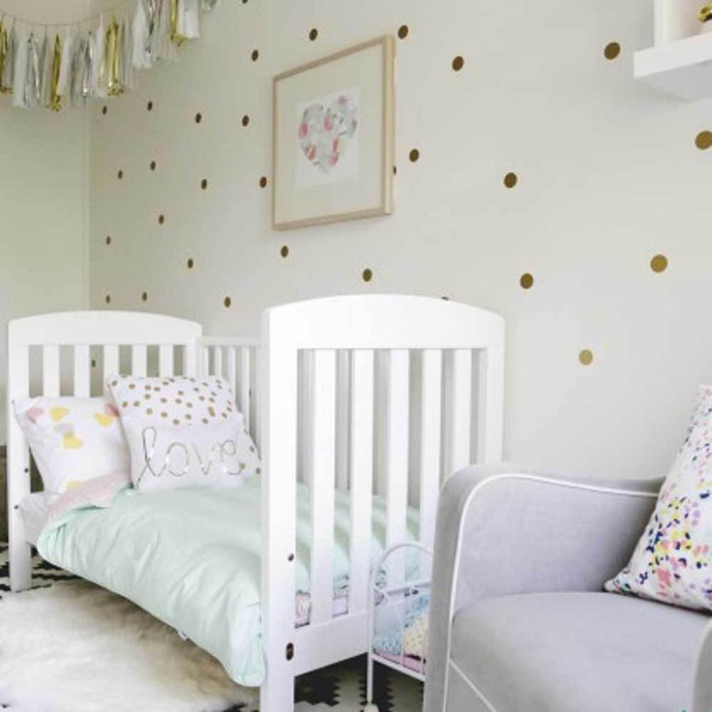 Golden Polka Dot Wall Decals For Nursery