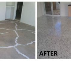 good job diy epoxy garage floor before after