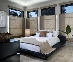good looking modern window treatments on bedroom