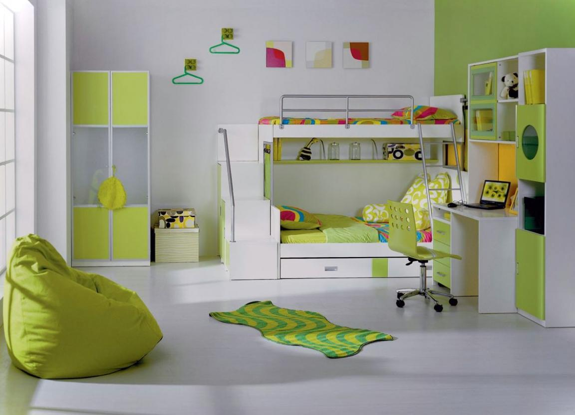 Green And White Girls Bedroom Furniture