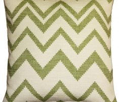 green zigzag simple throw pillow covers design