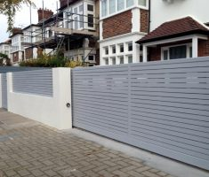 grey front gate designs with sliding