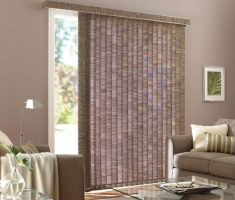grey patio door curtain for small living room