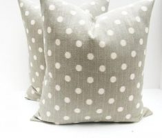 grey polkadot throw pillow covers and white for pillow cover living room decoration
