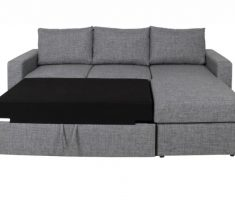 grey small sofa bed with storage