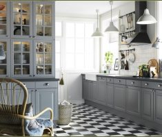 grey theme for ikea kitchen cabinets