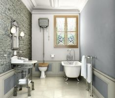 grey theme of traditional bathroom designs