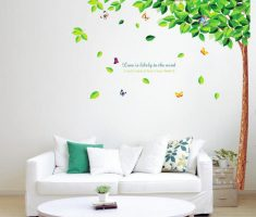 half green tree fall with butterfly removable wall decals inspirations