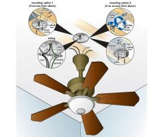 how to install a ceiling fan drawing image