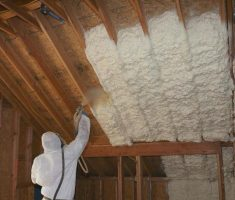 how to spray foam attic insulation