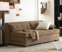 interesing russet light brown sleeper small sofa bed