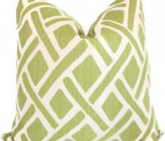 lime green abstrack throw pillow covers design pattern