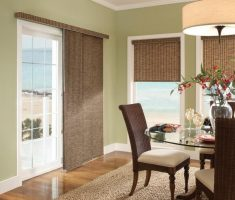 lux brown sliding curtain window treatments for sliding glass doors
