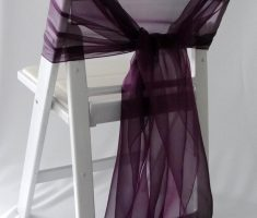 lux diy folding chair covers with purple ribbons