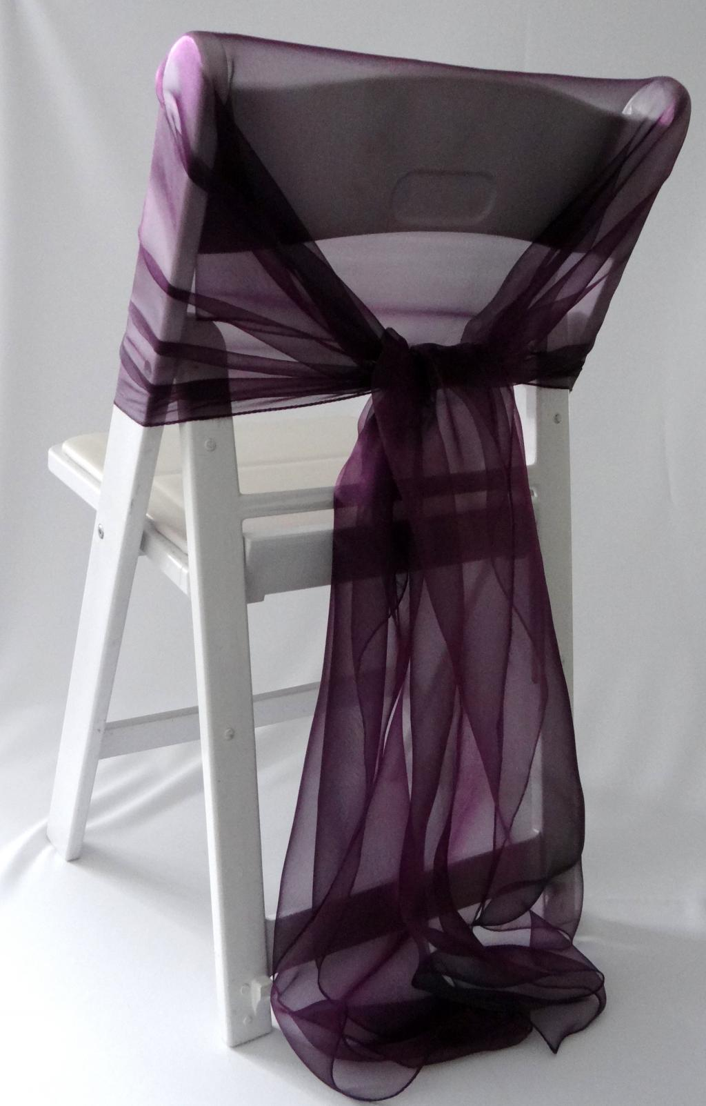 lux diy folding chair covers with purple ribbons – Home Inspiring