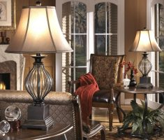lux glass and bronze table lamps for living room