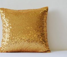 lux gold sparkling throw pillow covers design