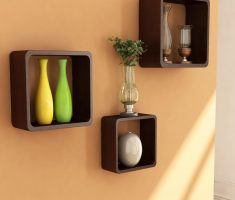 lux small wall mount shelf design