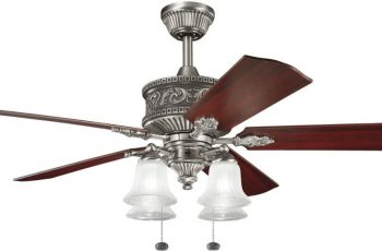 luxurious-chrome-ceiling-fans-with-lights-by-kichler-with-wooden-wings-and-4-lamps