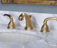 luxurious gold bathroom faucets modern design