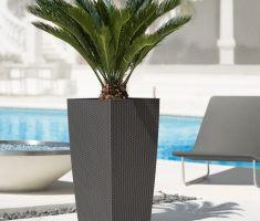 luxurious modern garden pots with webbing pattern