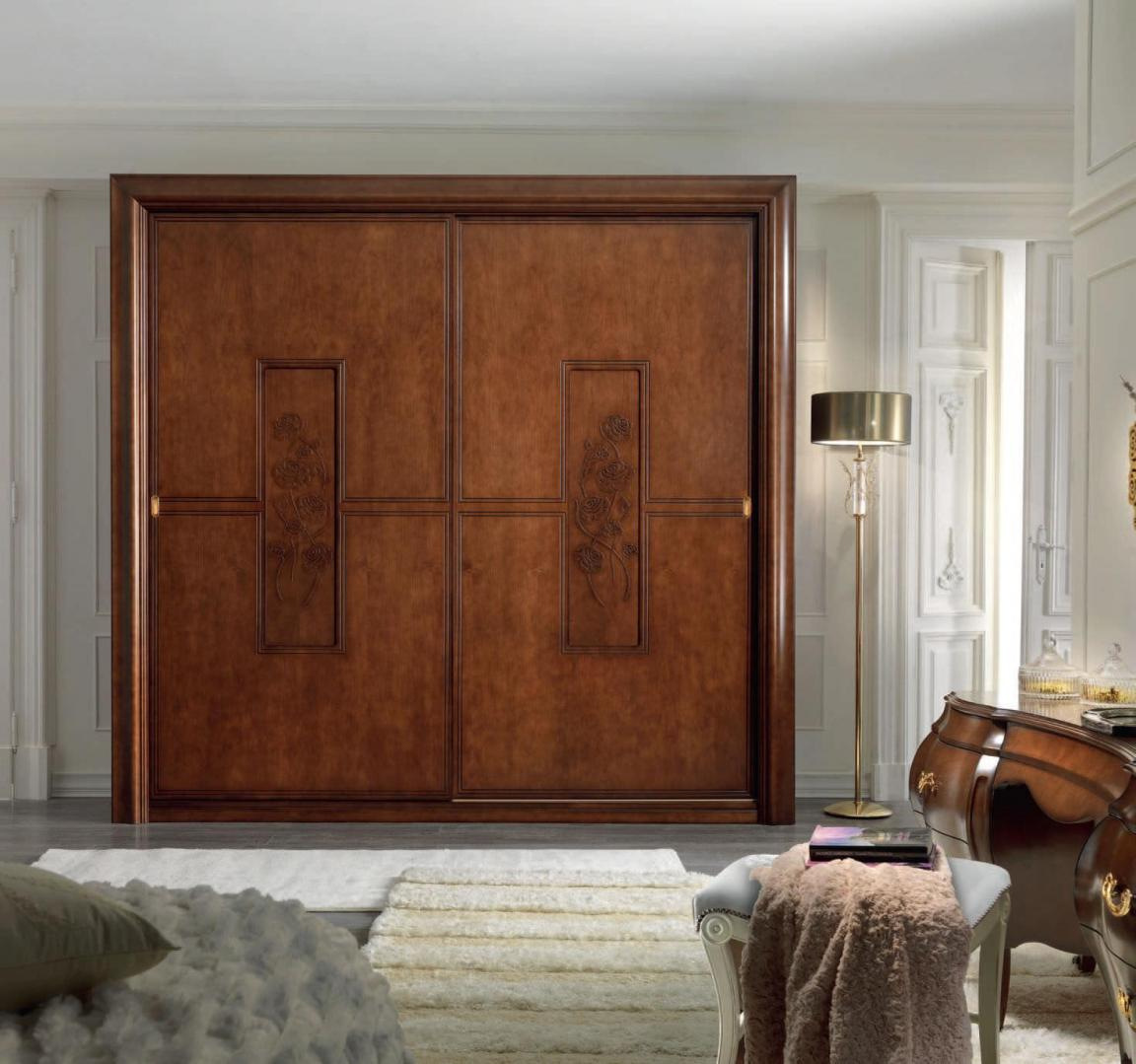 Luxurious wooden sliding closet doors with carving home - Wooden sliding closet doors for bedrooms ...