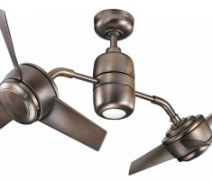 metal bronze ceiling fans with lights by kichler