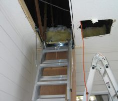 metal bronze pull down attic stairs
