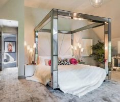 metal glass canopy beds for modern canopy beds