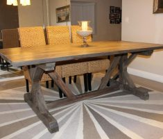 mid long size of farmhouse dining table diy
