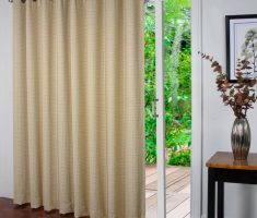 mild brown patio door curtain for small house