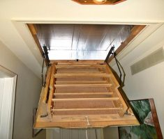 mini pull down attic stairs
