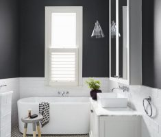 minimalist black and white traditional bathroom designs