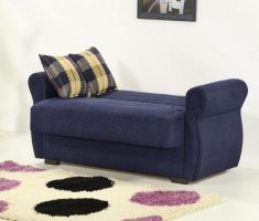 minimalist blue sleeper small sofa bed
