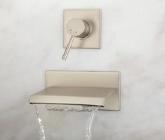 minimalist bronze bathroom wall faucets modern design