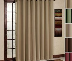 minimalist curtains for sliding glass doors for small size