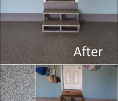 minimalist epoxy garage floor before after for small garage
