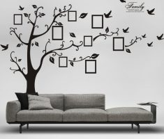 minimalist family tree for removable wall decals inspirations living room