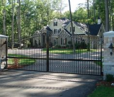 minimalist front gate designs for enchaniting modern front house with pillar