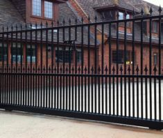 minimalist front gate designs with arrow style