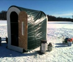 minimalist ice fishing house portable