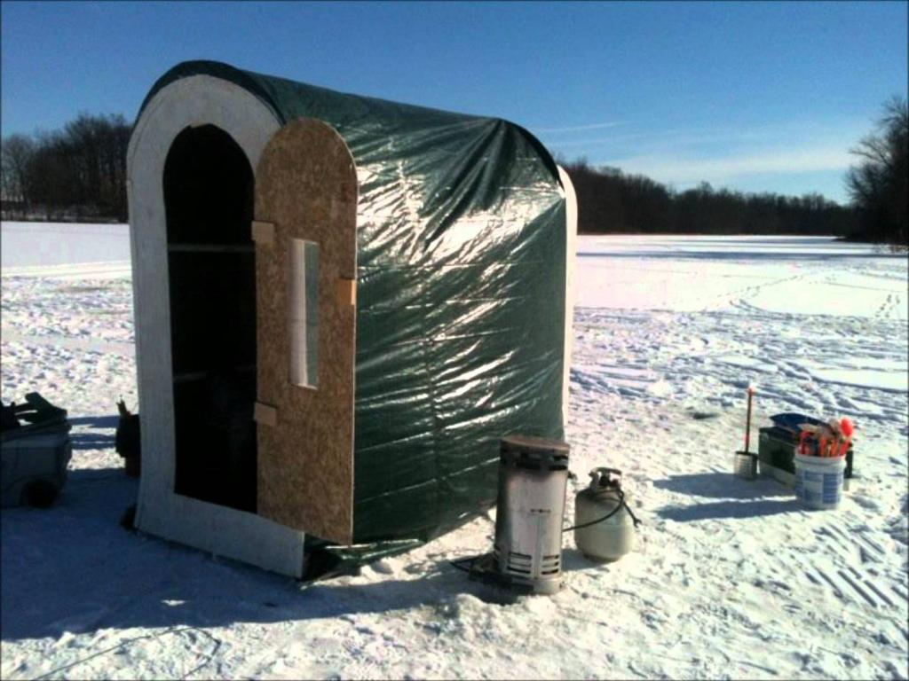 minimalist ice fishing house portable home inspiring