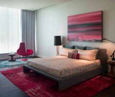 minimalist master bedrooms decoration art red carpet and wall pct