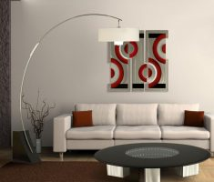 minimalist modern table or floor lamps for small living room
