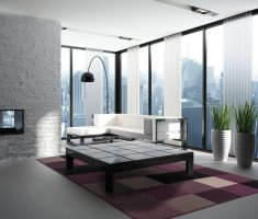 minimalist modern window treatments for apartment