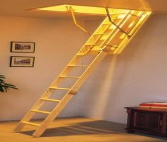 minimalist pull down attic stairs