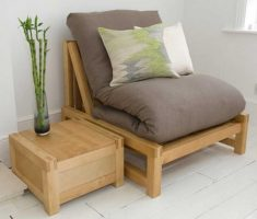 minimalist rustic small sofa bed for single with wooden