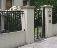 minimalist small front gate designs for small house and fence